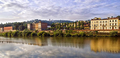 Photograph - Along The Arno by Mick Burkey