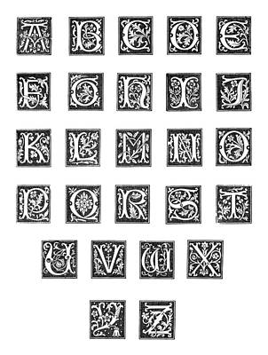 Painting - Alphabet, 16th Century by Granger