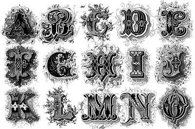 Painting - Alphabet, 1879 by Granger