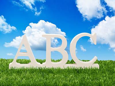 Alphabet Letters Art Print by Amanda Elwell
