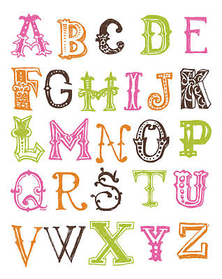 Digital Art - Alphabet Poster by Jaime Friedman