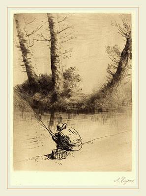 Ligne Drawing - Alphonse Legros, Angler Le Pecheur A La Ligne by Litz Collection