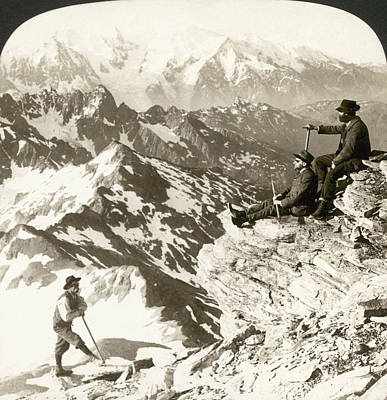Photograph - Alpine Mountaineering, 1908 by Granger