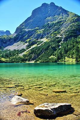 Mellow Yellow - Alpine Summer Lake by David Broome