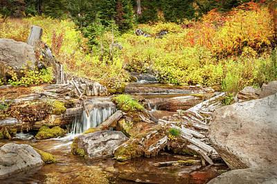 Alpine Waterfall Art Print by Ramona Murdock