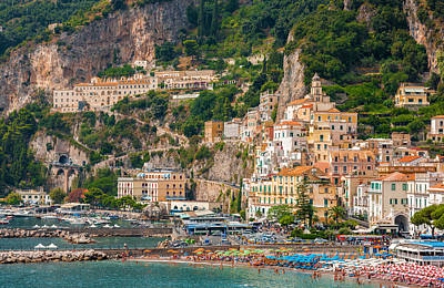 Amalfi City Art Print