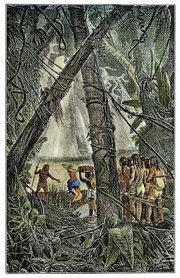 Amazon Jungle Painting - Amazon Exploration by Granger