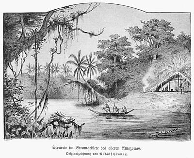 Primitive Drawing - Amazon Jungle, 1892 by Granger