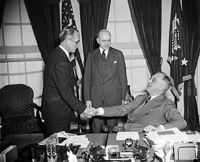 Ambassador Kennedy Art Print by Underwood Archives