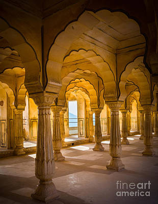 Rajasthan Photograph - Amber Fort Arches by Inge Johnsson