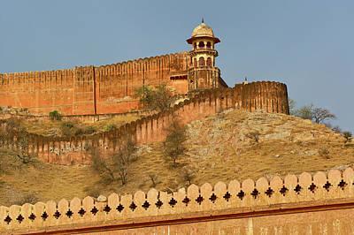 Adam Photograph - Amber Fort, Jaipur, India by Adam Jones