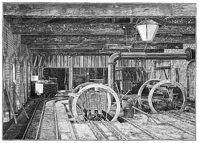 Amber Industry Art Print
