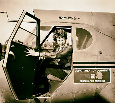 Amelia Earhart Photograph - Amelia Earhart 1936 by Mountain Dreams