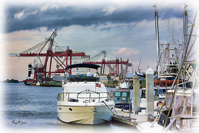 Photograph - Boats - Dock - Amelia Island Boat Docks by Barry Jones