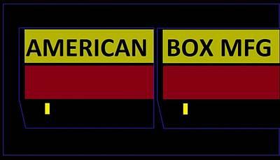 Art Print featuring the digital art American Box Mfg by Cletis Stump