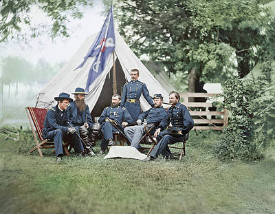 Photograph - American Civil War Generals by Stocktrek Images