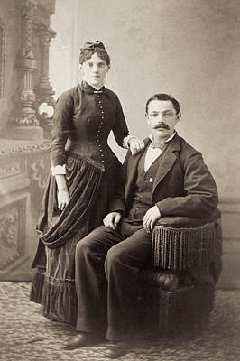 1880s Photograph - American Couple, 1880s by Granger