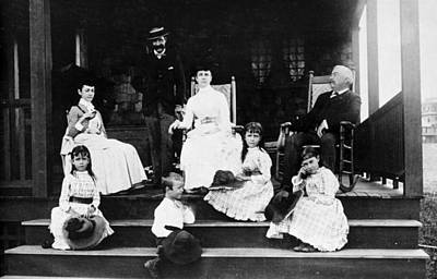 Photograph - American Family, C1885 by Granger