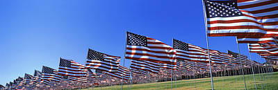 Malibu Photograph - American Flags In Memory Of 911 by Panoramic Images