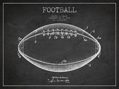 American Football Patent Drawing From 1939 Art Print