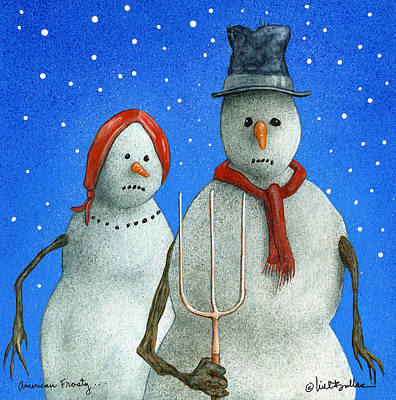 American Gothic Painting - American Frosty by Will Bullas