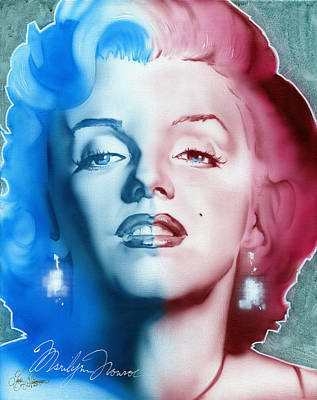 Marylin Painting - American Girl by Luis  Navarro
