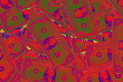 Landmarks Royalty Free Images - American One Dollar Bills Pop Art Royalty-Free Image by Keith Webber Jr
