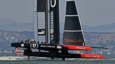 Sausalito Photograph - America's Cup Sf Bay by Steven Lapkin