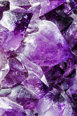 Inorganic Solid Photograph - Amethyst Crystals by Millard H. Sharp