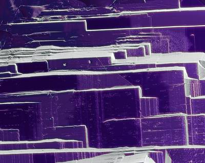 Inorganic Solid Photograph - Amethyst by Steve Gschmeissner