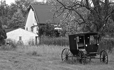 Amish Buggy Photograph - Amish Living by Frozen in Time Fine Art Photography
