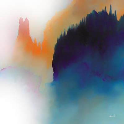 Serene Drawing - Amorphous 14 by The Art of Marsha Charlebois