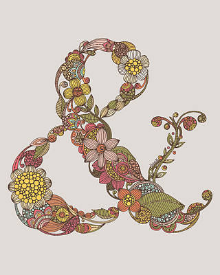 Ampersand Art Print by Valentina
