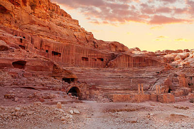 Petra Photograph - Amphitheater In Petra by Alexey Stiop