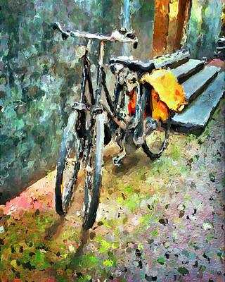 Amsterdam Digital Art - Amsterdam Bikes by Yury Malkov