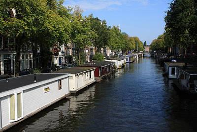 Photograph - Amsterdam Canal by Aidan Moran