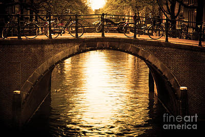 Photograph - Amsterdam Romantic Bridge Over Canal by Michal Bednarek