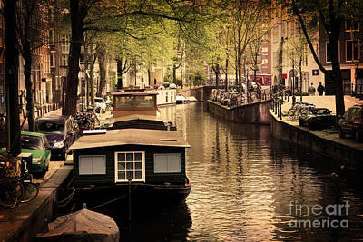 Photograph - Amsterdam Romantic Canal by Michal Bednarek