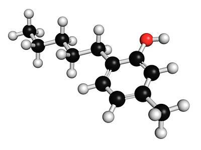 Meta Photograph - Amylmetacresol Antiseptic Drug Molecule by Molekuul