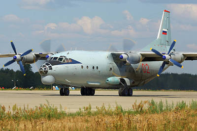 Photograph - An-12 Transport Aircraft Of The Russian by Artyom Anikeev