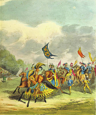 Revised Drawing - An Account Of The Tournament At Eglinton by Litz Collection