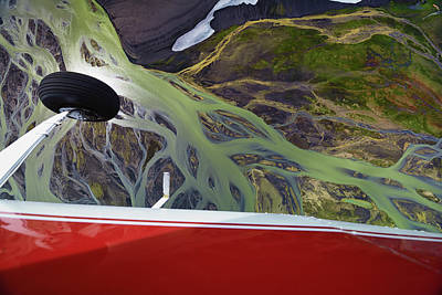 Photograph - An Aerial View Of Streams Of Glacier by Keith Ladzinski