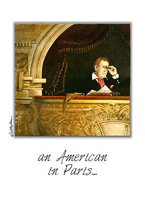 Opera House Painting - an American in Paris... by Will Bullas