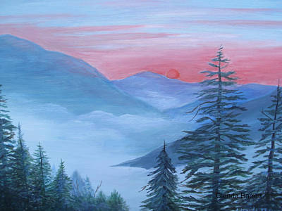 Painting - An Appalachian Morning by Glenda Barrett
