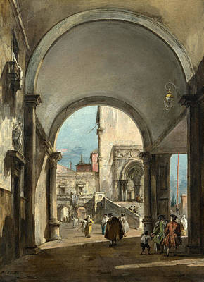 Francesco Guardi Painting - An Architectural Caprice by Francesco Guardi