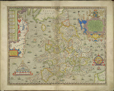 Cartography Photograph - An Atlas Of England And Wales by British Library