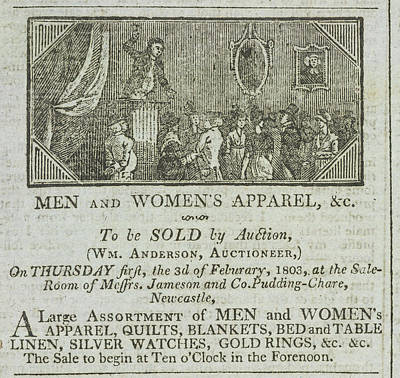 An Auction Art Print by British Library