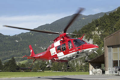 Agustawestland Aw109 Photograph - An Aw109 Helicopter Of The Swiss Air by Luca Nicolotti