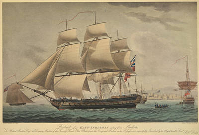 Illustration Technique Photograph - An East Indiaman by British Library