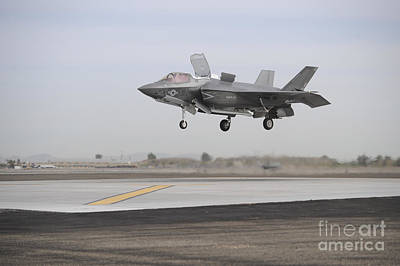 Joint Strike Fighter Photograph - An F-35b Lightning II Joint Strike by Stocktrek Images